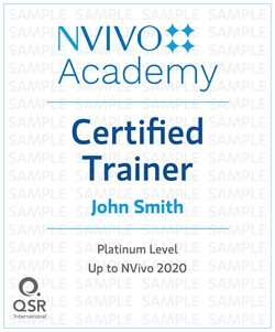 NVivo Academy Certified Trainer